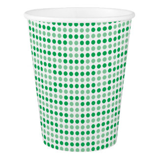 Modelo de lunares verde vaso de papel