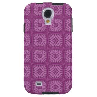 Modelo de madera abstracto púrpura funda galaxy s4