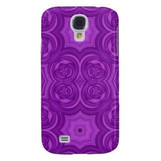 Modelo de madera abstracto púrpura samsung galaxy s4 cover