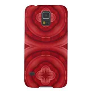 Modelo de madera abstracto rojo carcasa galaxy s5
