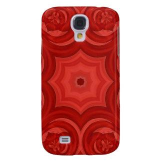 Modelo de madera abstracto rojo funda para samsung galaxy s4