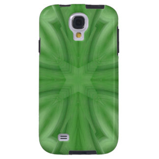 Modelo de madera abstracto verde funda galaxy s4