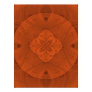 Modelo de madera coloreado rojizo folleto 21,6 x 28 cm