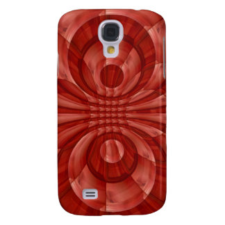 Modelo de madera rojo abstracto funda para galaxy s4