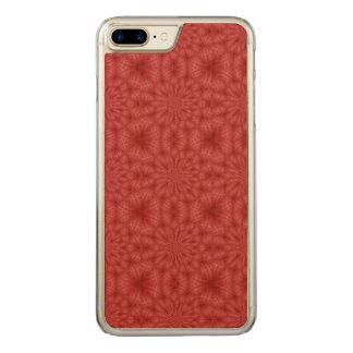 Modelo de madera rojo abstracto funda para iPhone 8 plus/7 plus de carved