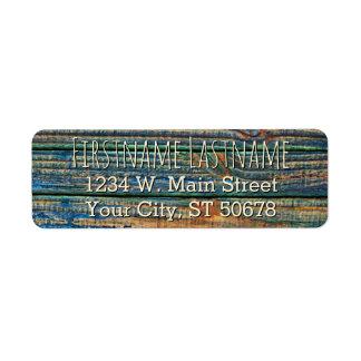Modelo de madera rústico de los tablones de Brown Etiquetas De Remite
