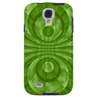 Modelo de madera verde abstracto funda galaxy s4