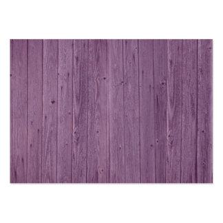 Modelo de madera violeta de la textura. Diseño Tarjetas De Visita