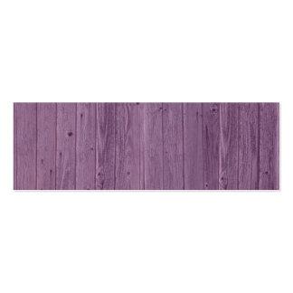 Modelo de madera violeta de la textura. Diseño Plantilla De Tarjeta De Visita