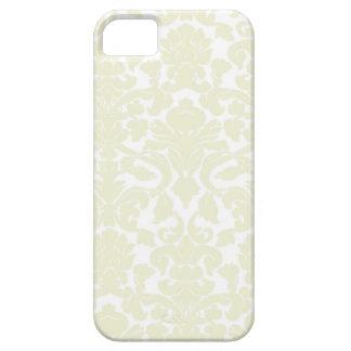 Modelo de marfil lindo del damasco iPhone 5 Case-Mate coberturas