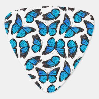 Modelo de mariposa azul de monarca púa de guitarra