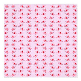 Modelo de mariposa bonito en rosa y rojo invitación 13,3 cm x 13,3cm