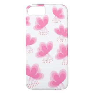 Modelo de mariposa de la flor de cerezo funda iPhone 7