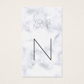 Modelo de mármol blanco de la moda tarjeta de visita