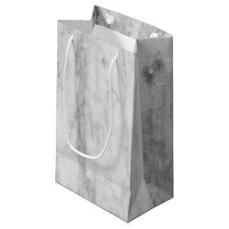 Modelo de mármol blanco y gris de la textura bolsa de regalo pequeña