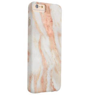Modelo de mármol femenino subió de ruborización funda barely there iPhone 6 plus