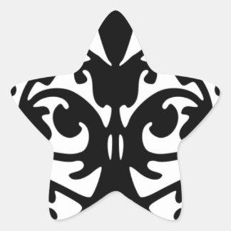 Modelo de máscara blanco y negro del De Calcomanías Forma De Estrellas Personalizadas