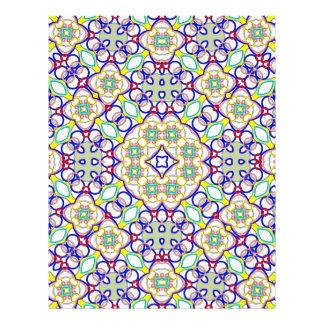 Modelo de moda colorido abstracto tarjetones