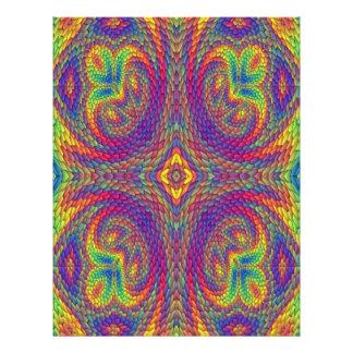 Modelo de moda colorido folleto 21,6 x 28 cm