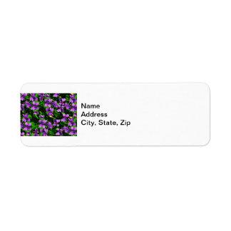 Modelo de mosaico de la violeta de madera de la etiqueta de remite