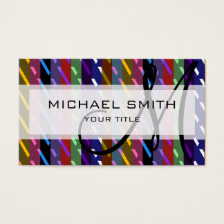 Modelo de mosaico geométrico decorativo #3 tarjeta de negocios
