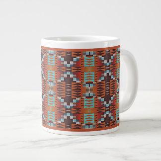 Modelo de mosaico indio de la cabina del nativo taza grande