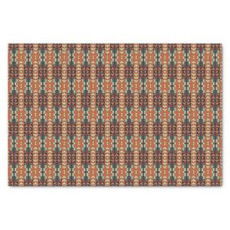 Modelo de mosaico rústico anaranjado de la cabina papel de seda pequeño