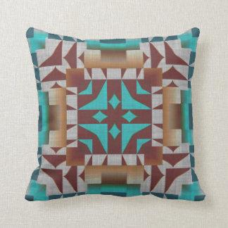 Modelo de mosaico rústico indio nativo americano almohadas