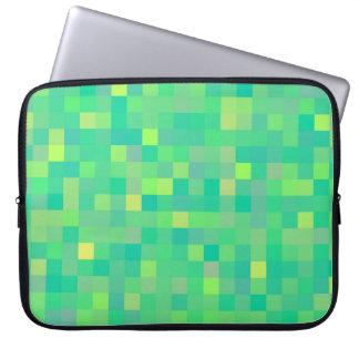 Modelo de mosaico verde/amarillo de moda elegante funda para portátil
