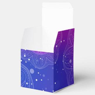 Modelo de neón púrpura de la mandala caja de regalos