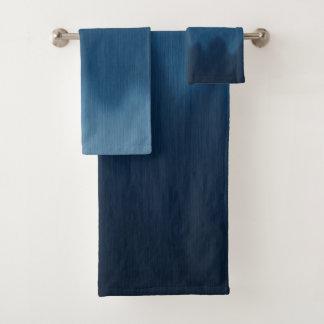 Modelo de onda alineado Ombre azul gráfico de Jean