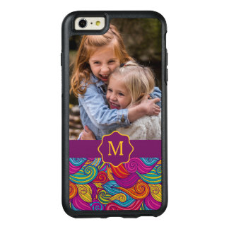Modelo de onda colorido retro de Swirly del tono Funda Otterbox Para iPhone 6/6s Plus