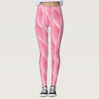 Modelo de onda rizado rosado abstracto #2 leggings