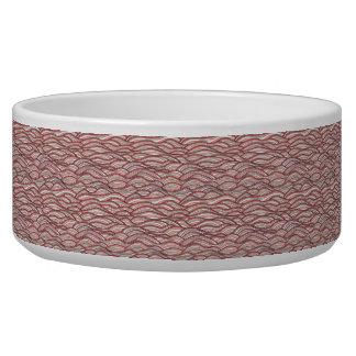 Modelo de ondas abstracto rosado. Textura del mar Comedero Para Mascota