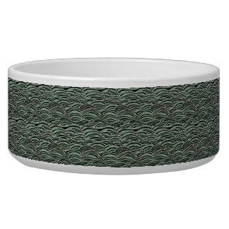 Modelo de ondas abstracto verde. Textura del mar Comedero Para Mascota