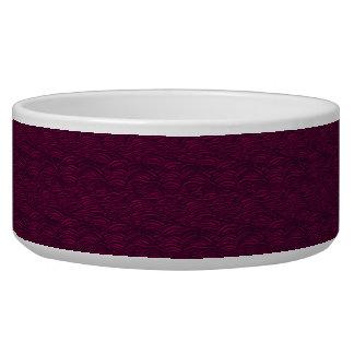 Modelo de ondas púrpura. Textura del mar Comedero Para Mascota