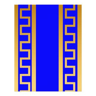Modelo de oro azul folleto 21,6 x 28 cm
