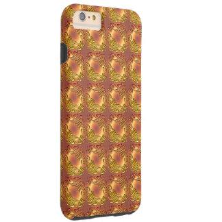 Modelo de oro del damasco floral funda resistente iPhone 6 plus