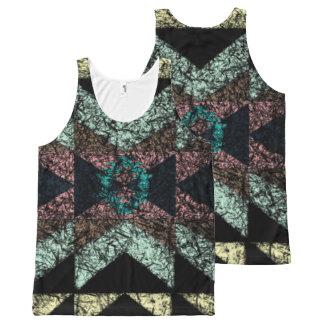Modelo de OutwornTribal Aztek Camiseta De Tirantes Con Estampado Integral