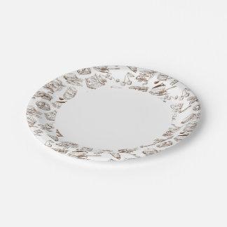 Modelo de papel platos de papel
