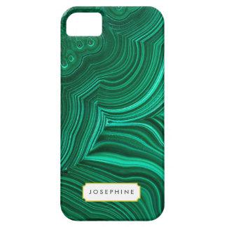 Modelo de piedra mineral de la rebanada de la funda para iPhone SE/5/5s