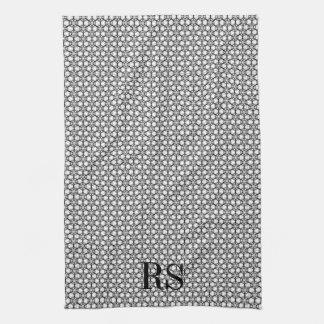 Modelo de plata del hexágono: Decoración de la coc Toallas De Mano