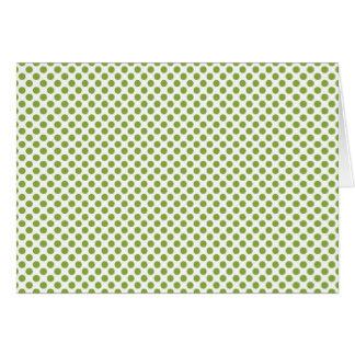 Modelo de punto verde del navidad moderno felicitaciones
