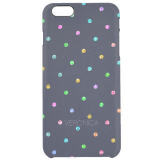 Modelo de puntos colorido de la textura moderna funda transparente para iPhone 6 plus