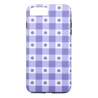 Modelo de puntos púrpura y blanco del control de funda iPhone 7 plus