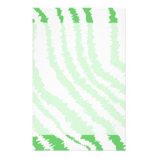 Modelo de rayas verdes onduladas tarjetón