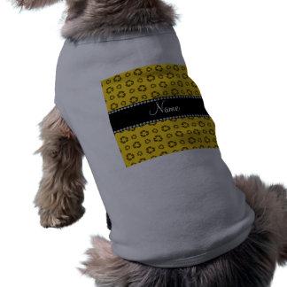 Modelo de reciclaje amarillo conocido camiseta sin mangas para perro