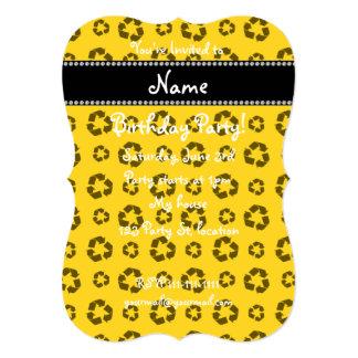 Modelo de reciclaje amarillo conocido invitación 12,7 x 17,8 cm