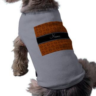 Modelo de reciclaje anaranjado conocido camiseta sin mangas para perro