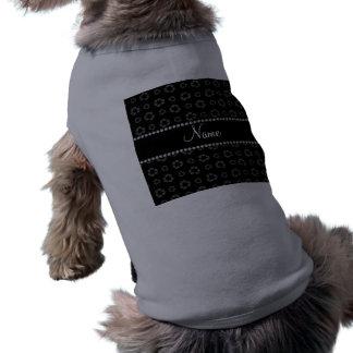 Modelo de reciclaje negro conocido personalizado camisa de perrito